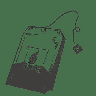 手绘素描-茶文化元素-茶包
