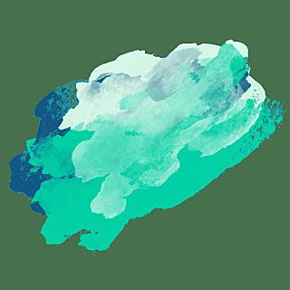 手绘-水彩渲染色块装饰元素贴纸10