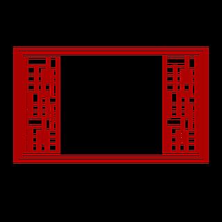 扁平中国风传统边框元素7
