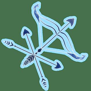 手绘-十二星座象形贴纸-射手座