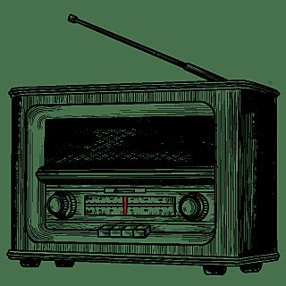 素描-民国生活工具贴纸-收音机