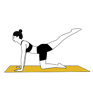 SVG-瑜伽人物描边元素贴纸