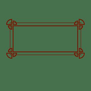 扁平中国风传统边框元素6