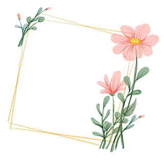 手绘水彩-复古花环元素贴纸