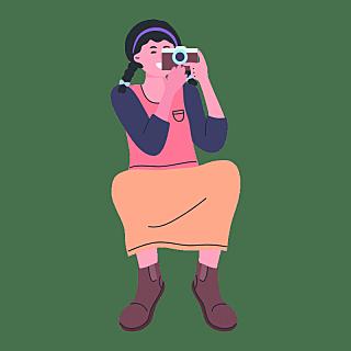 SVG-手持摄像机人物贴纸