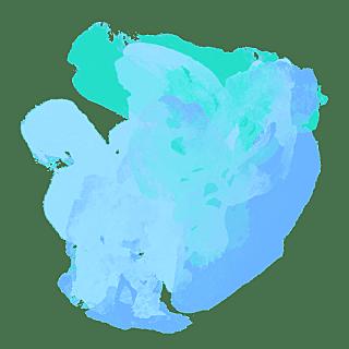 手绘-水彩渲染色块装饰元素贴纸9