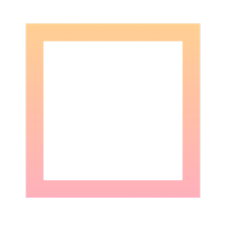 手绘-基础图形边框渐变-正方形