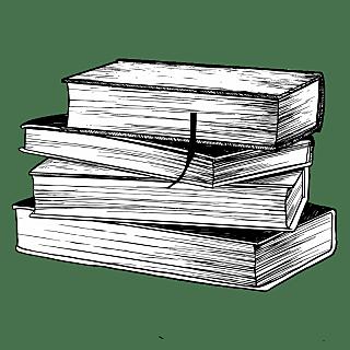 手绘-学习用品图书素描贴纸-SVG1