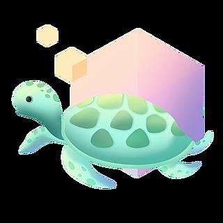 扁平-海洋日元素贴纸-乌龟