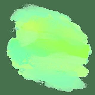 水彩渲染色块装饰元素贴纸4