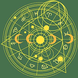 手绘-星座星盘常规贴纸3