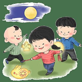 水墨-中秋节节日元素人物场景3