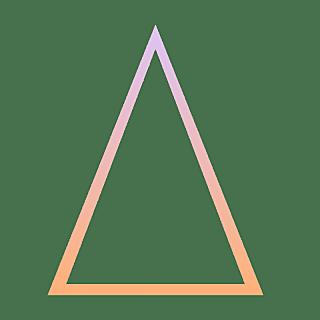 手绘-基础图形边框渐变-三角形