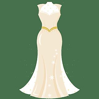 手绘-婚礼配饰贴纸-婚礼服