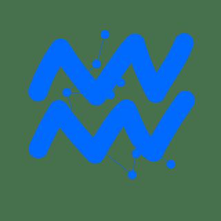 手绘-十二星座星轨贴纸SVG-水瓶座