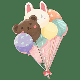 手绘风-生日元素-气球