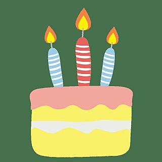 手绘-可爱手帐贴纸SVG-生日蛋糕