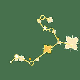手绘-简约十二星座贴纸-狮子座