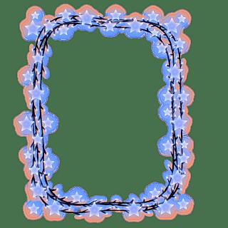 手绘-气氛灯串元素-长方形