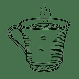 素描-咖啡系列元素-咖啡