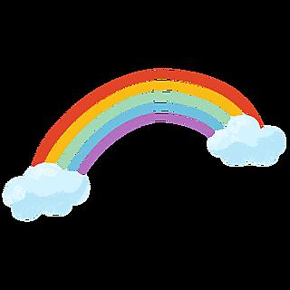 卡通-天气元素贴纸-彩虹