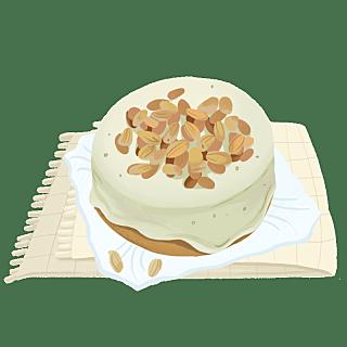 手绘-卡通风美食贴纸-蛋糕