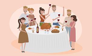幸福,友谊,蔬菜,请柬,贺卡,香料,食品,模板,餐具,小的