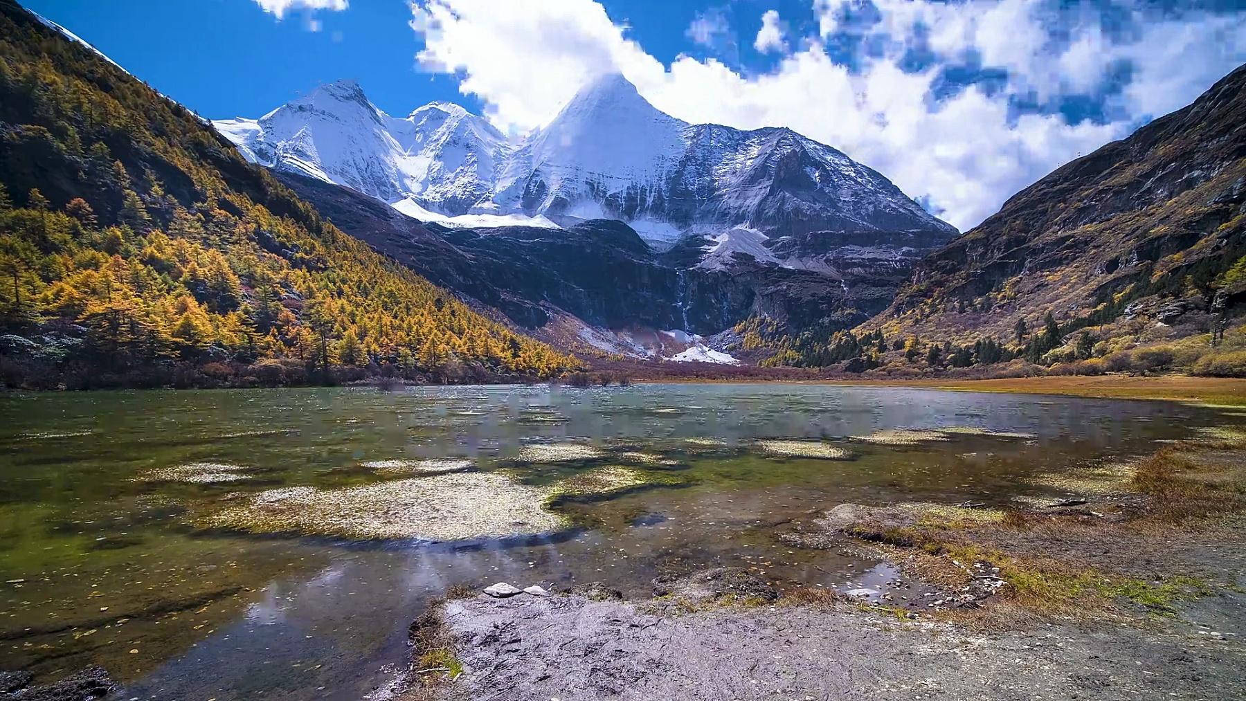 中国云南四川稻城亚丁自然保护区