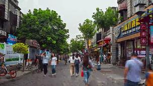 武汉市日光著名步行街全景 时移中国