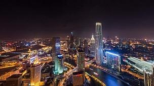 T/L WS HA精彩城市景观鸟瞰/天津,中国
