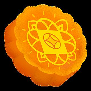 中秋节主题元素插画贴纸-月饼