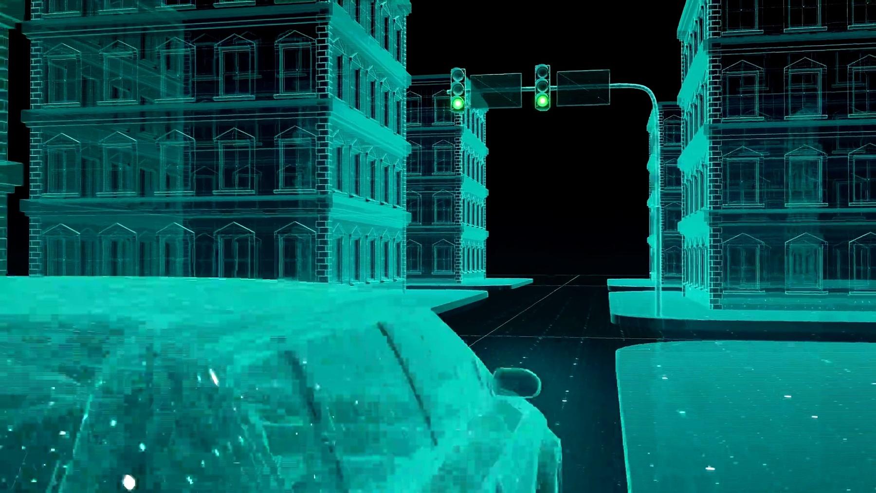 自动驾驶汽车连接交通信息控制系统,物联网概念。