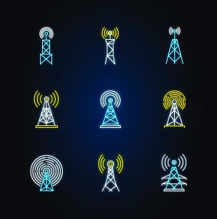 迅速,5g,绘画插图,霓虹灯,计算机图标,矢量,标志,无线技术,沟通,发光