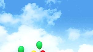 天空中的心形气球