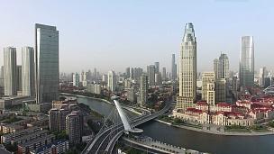 现代城市中心区现代建筑鸟瞰