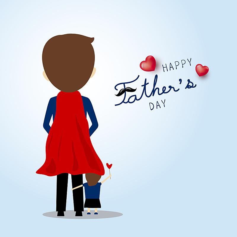 父亲,父亲节,贺卡,计划书,女儿,可爱的,家庭,父母,问候,爱