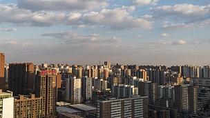 日光变化中的T/L WS HA PAN城市居住区/中国北京