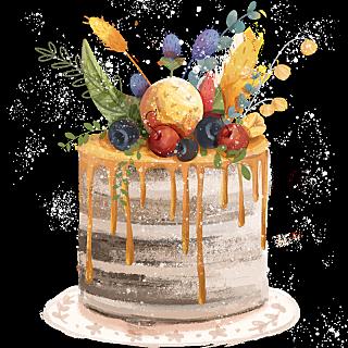 插画-蛋糕