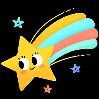 卡通风天气贴纸-星星
