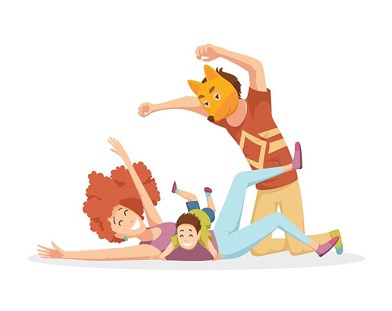 儿童,快乐,年轻双亲,女儿,可爱的,家庭,父母,笑,休闲,爱
