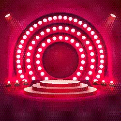 舞台,指挥台,景象,颁奖典礼,红色,圆形,商务,事件,闪亮的