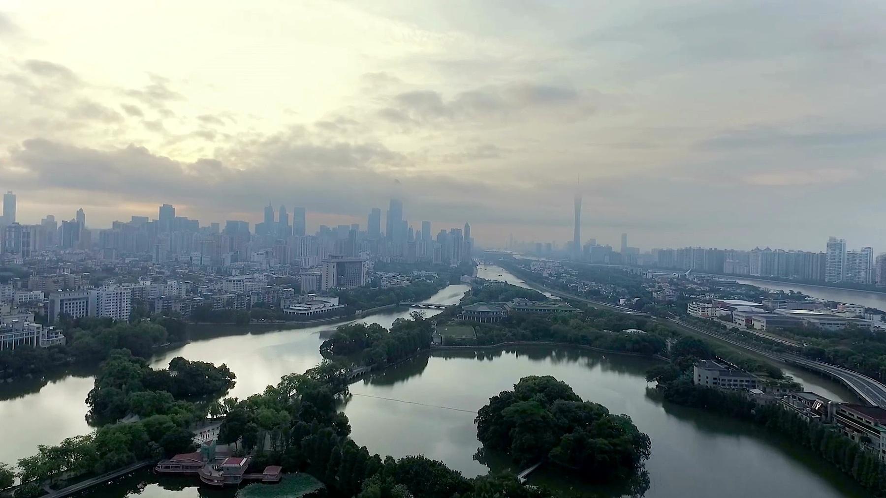云天长河现代城市鸟瞰
