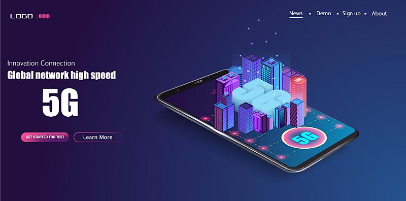 5G,无线技术,网上交友,新的,城市,未来,房屋,商务,联系,沟通