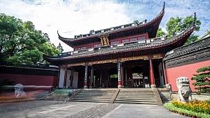 杭州的传统风格建筑。时间间隔