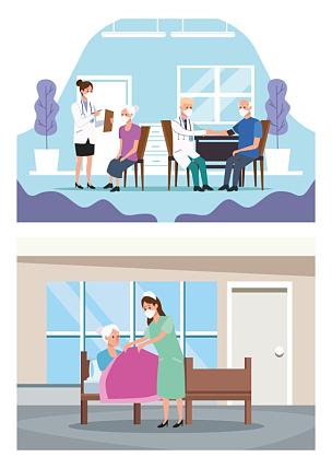 保护,老年人,医药职业,性格,风险,专心,健康保健,护士,专业人员,家庭护理