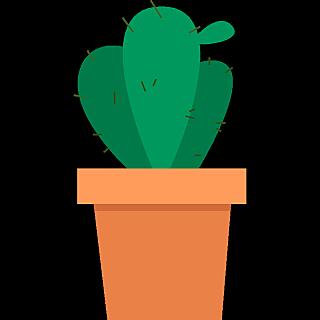 扁平套系素材-植物建筑