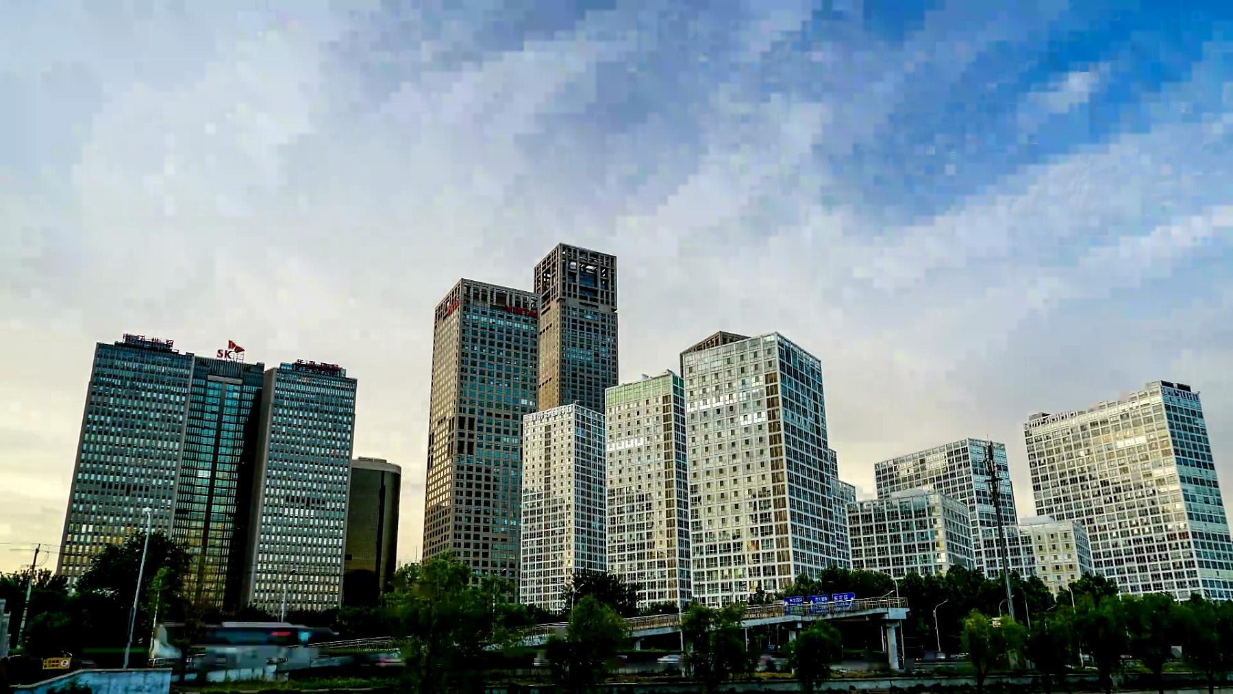北京CBD城市夜间延时摄影