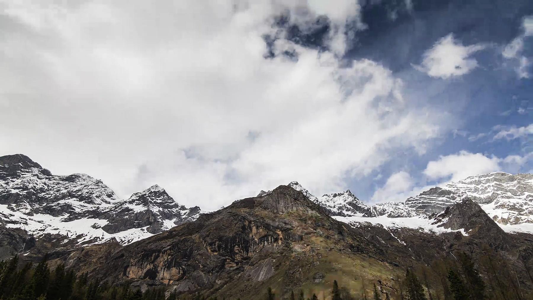 亚丁国家级自然保护区蓝天雪山 延时。
