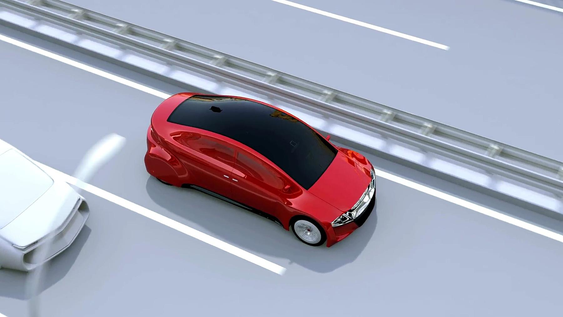 自动刹车系统避免车祸撞车