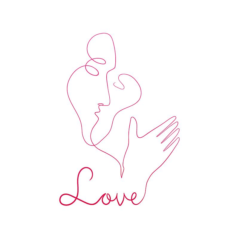paintbrush kiss love